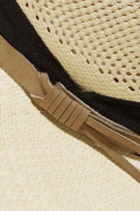 SENSI STUDIO Nubuck-trimmed toquilla straw sunhat