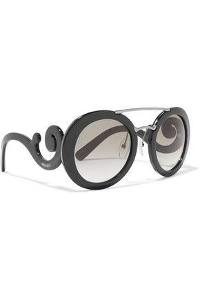 PRADA Round-frame acetate sunglasses