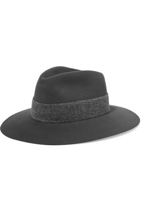 RAG & BONE Range brushed wool-trimmed wool-felt fedora