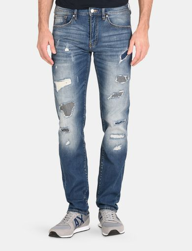 PATCH REPAIR STRAIGHT-LEG JEAN