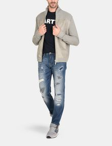 ARMANI EXCHANGE PATCH REPAIR STRAIGHT-LEG JEAN STRAIGHT FIT JEANS Man a