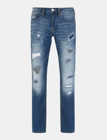 ARMANI EXCHANGE PATCH REPAIR STRAIGHT-LEG JEAN STRAIGHT FIT JEANS Man b