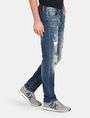 ARMANI EXCHANGE PATCH REPAIR STRAIGHT-LEG JEAN STRAIGHT FIT JEANS Man d