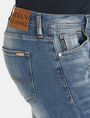 ARMANI EXCHANGE PATCH REPAIR STRAIGHT-LEG JEAN STRAIGHT FIT JEANS Man e