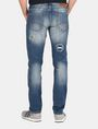 ARMANI EXCHANGE PATCH REPAIR STRAIGHT-LEG JEAN STRAIGHT FIT JEANS Man r