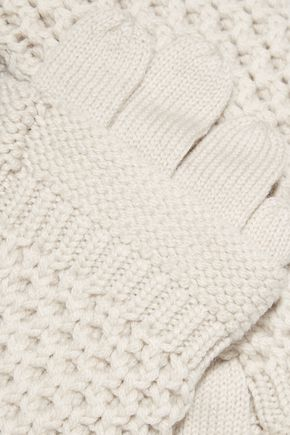 DUFFY Cable-knit merino wool gloves