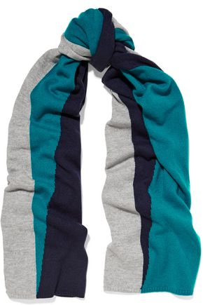 MAGASCHONI Color-block cashmere scarf