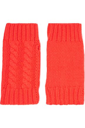 AUTUMN CASHMERE Cable-knit cashmere hand warmers