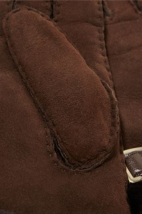 AUSTRALIA LUXE COLLECTIVE Shearling-lined suede gloves