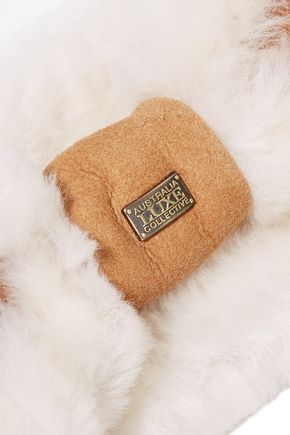 AUSTRALIA LUXE COLLECTIVE Shearling-lined suede headband