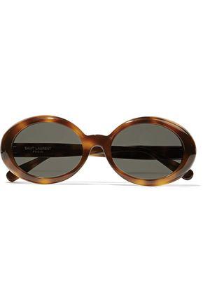SAINT LAURENT Nicole round-frame tortoiseshell acetate sunglasses