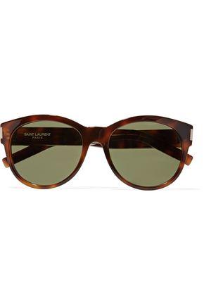 SAINT LAURENT SL 67 D-frame tortoiseshell acetate sunglasses