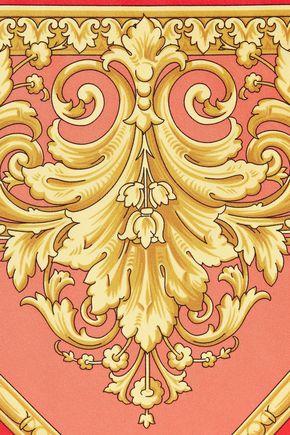 GIANNI VERSACE Printed silk-satin twill scarf