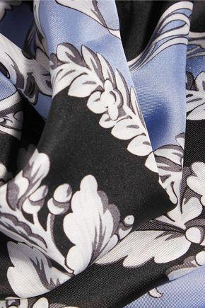 GIANNI VERSACE Printed silk-satin scarf