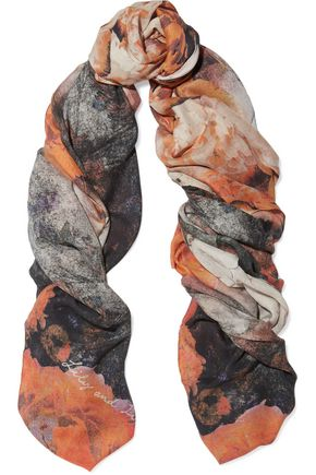 LILY AND LIONEL Skyler printed modal and cashmere-blend scarf