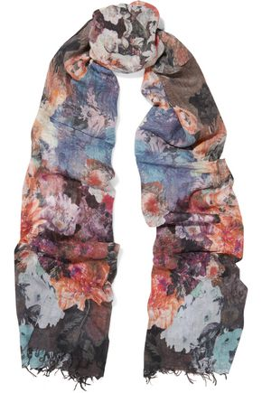 LILY AND LIONEL Gloria printed modal and cashmere-blend scarf