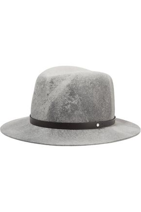 RAG & BONE Faux leather-trimmed wool-felt fedora