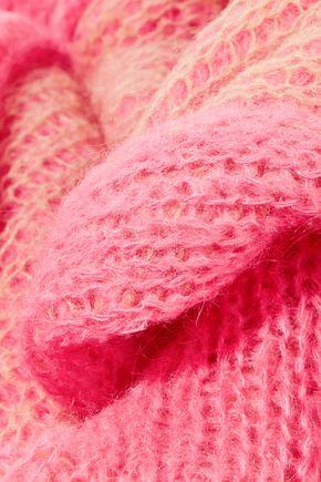 ACNE STUDIOS Via neon crochet-knit scarf