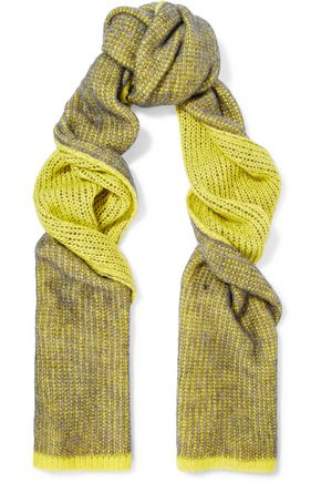 ACNE STUDIOS Via neon crochet-knit scarf