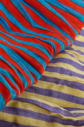 TOMAS MAIER Striped cotton scarf