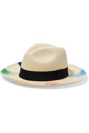 SENSI STUDIO Printed toquilla straw Panama hat