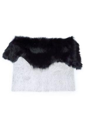 KARL DONOGHUE Two-tone angora-blend scarf