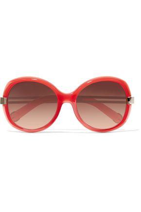 CHLOÉ Square-frame acetate sunglasses
