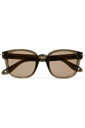 WOMAN SQUARE-FRAME ACETATE SUNGLASSES ARMY GREEN