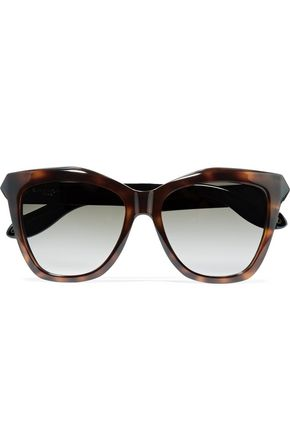 WOMAN CAT-EYE TORTOISESHELL ACETATE SUNGLASSES BROWN
