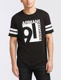 ARMANI EXCHANGE VINTAGE 91 STRIPED CREW Logo T-shirt Man f
