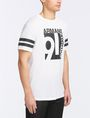 ARMANI EXCHANGE VINTAGE 91 STRIPED CREW Logo T-shirt Man d