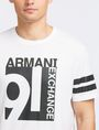 ARMANI EXCHANGE VINTAGE 91 STRIPED CREW Logo T-shirt Man e