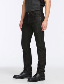 ARMANI EXCHANGE BLACK WEAVE SIDE-ZIP JEAN STRAIGHT FIT JEANS Man d