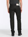 ARMANI EXCHANGE BLACK WEAVE SIDE-ZIP JEAN STRAIGHT FIT JEANS Man r