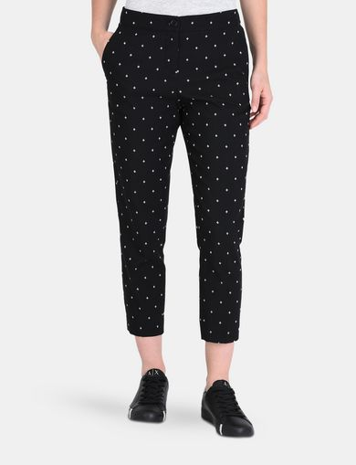 DIAMOND PRINT TAPERED TROUSER