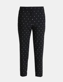ARMANI EXCHANGE DIAMOND PRINT TAPERED TROUSER Hose Damen b