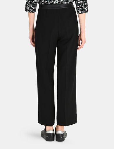 FAUX WAISTBAND WIDE LEG TROUSERS
