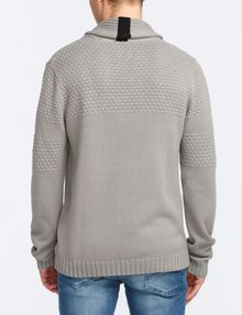 ARMANI EXCHANGE BUBBLE-STITCH SHAWL-COLLAR SWEATER Pullover Man r