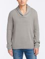 ARMANI EXCHANGE BUBBLE-STITCH SHAWL-COLLAR SWEATER Pullover Man f