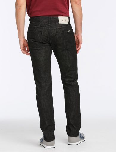 BLACK WEAVE SLIM-FIT JEAN