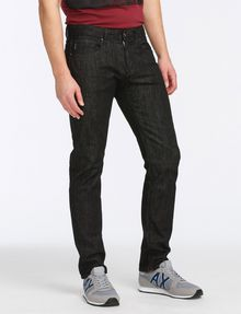ARMANI EXCHANGE BLACK WEAVE SLIM-FIT JEAN Slim fit JEANS Man d