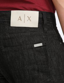 ARMANI EXCHANGE BLACK WEAVE SLIM-FIT JEAN Slim fit JEANS Man e