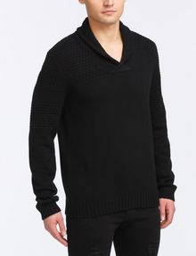 ARMANI EXCHANGE BUBBLE-STITCH SHAWL-COLLAR SWEATER Pullover Man d