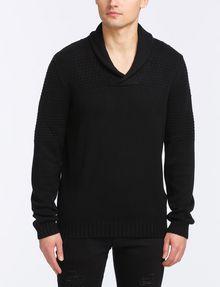 ARMANI EXCHANGE BUBBLE-STITCH SHAWL-COLLAR SWEATER Pullover Man f