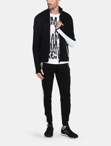 ARMANI EXCHANGE EMBOSSED MOCKNECK ZIP JACKET Fleece Jacket Man a