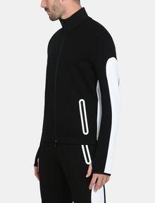 ARMANI EXCHANGE EMBOSSED MOCKNECK ZIP JACKET Fleece Jacket Man d