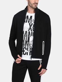 ARMANI EXCHANGE EMBOSSED MOCKNECK ZIP JACKET Fleece Jacket Man f