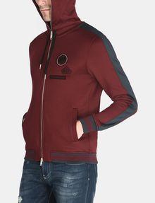 ARMANI EXCHANGE VINTAGE PATCH DETAIL HOODIE Fleece Jacket Man d