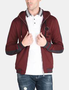 ARMANI EXCHANGE VINTAGE PATCH DETAIL HOODIE Fleece Jacket Man f