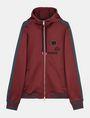 ARMANI EXCHANGE VINTAGE PATCH DETAIL HOODIE Fleece Jacket Man b